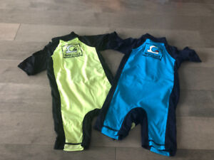 Two Quicksilver baby Rashguard size 18-24 months, one peace
