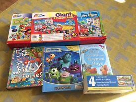 Activity bundle of puzzles/kids books preschool