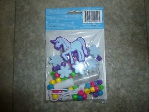 Kids unicorn necklace & bracelet kit; new in package