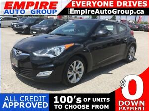 2016 HYUNDAI VELOSTER W/BLACK INTERIOR * POWER GROUP * LOW KM
