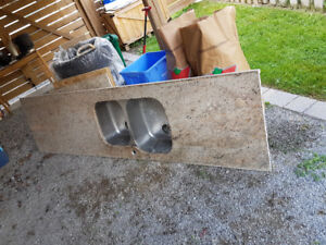 Used Granite counter top with undermount sink