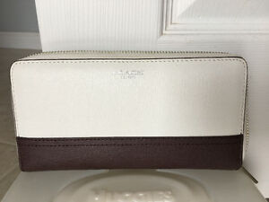 Brown and Cream Coach Wallet