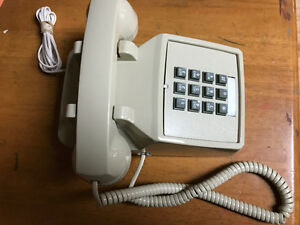 Old home phone, vintage push button phone
