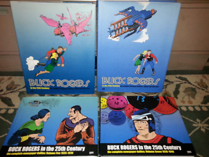 4 Buck Rogers hardcover comic books