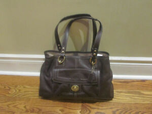 Coach Purse - 2 Straps - Brown Leather - Brand New