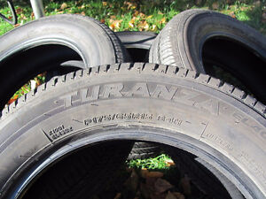 Set of Four, 175/65 R 15, M & S, Bridgestone Tires,Lots of tread Prince George British Columbia image 3