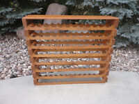 96 Bottle Knotty Pine Wine Rack..Lots Of Character