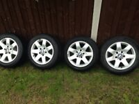 BMW 16 inch alloy wheels and good tyres