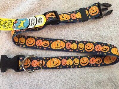 Halloween Jack-o'-Lanterns Large Dog Collar (18
