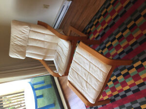 Poang Arm Chair and Footstool