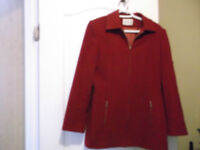 Jessica Ladies Burgundy outer jacket