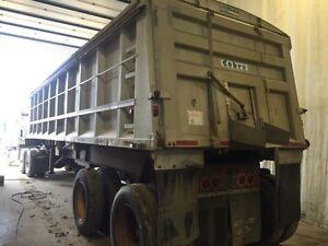 1987 32' cobra aluminum tandem end dump grain trailer