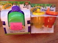 Jungle mealtime set and sippy cups -NEW