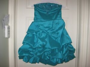 strapless dress, beaded bodice size small,wedding or prom