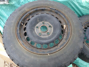 4 RIMS VW 5X112 AND WINTER TIRES SNOWTRACKER 195 65 15
