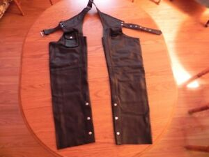 motorcycle leather chaps .