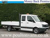 """VOLKSWAGEN CRAFTER CR35 RWD 3 X SEAT / DOUBLE CAB LWB 11'6"""" DROPSIDE PICK UP"""