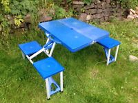 Fold away camping table/chairs