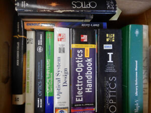 text and refernce books for physics math and mostly optics