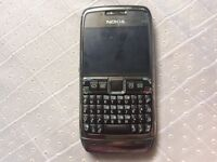 Nokia E71 on 3 Stainless Steel
