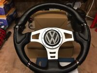 Vw mk3 golf mini boss with steering wheel