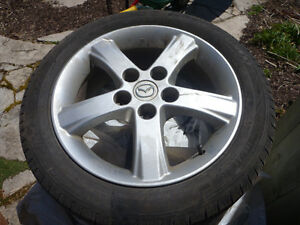 Michelin Tires on Mazda rims 195/50 R16 Stratford Kitchener Area image 1