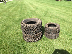 Tires for lawn mower or small lawn tractor