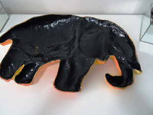 YELLOW ELEPHANTS ANYONE papier-mâché HAITI fabulous BABY'S ROOM Cambridge Kitchener Area image 6