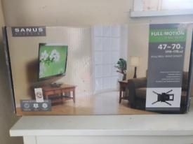 Sanus Full Motion TV Wall Mount (47-70 inch) unused.