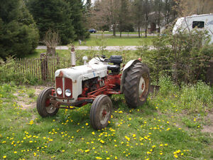 ford dextra tractor and blade