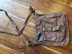 steve madden boho brown leather bag