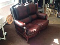 Two Seater genuine leather sofa