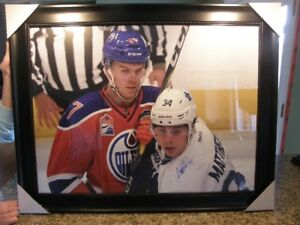 Auston Matthews and Connor McDavid Signed Picture - Mint