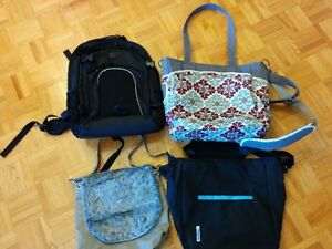 JJ cole diaper bag (and three other bags)