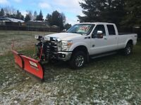 2012 ford f350 lariat with snowplow