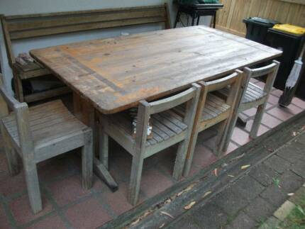 bargain price ! -PINE TABLE AND 4 CHAIRS- takeaway!!! $100 Mosman Mosman Area Preview