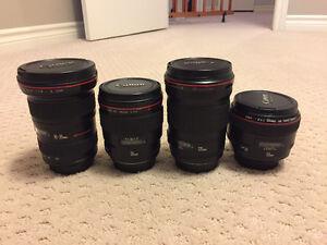 Canon DSLR Camera Equipment and Lenses