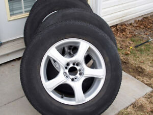 "4 x 225 / 70 / 16 Tires & 4 x 16"" Powder Coated Aluminum Rims"