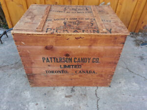 PATTERSON CANDY CO & THE GOUDEY GUM CO WOOD AD. CRATE