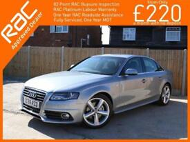 2010 Audi A4 2.0 TDI Turbo Diesel S Line 6 Speed Full Leather/Suede Only 68,000