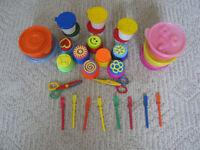 Lot of Moon Sand/no spill paint pots/glue sticks/safety scissors