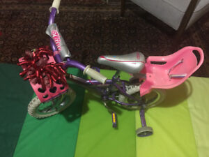 Girls training bike