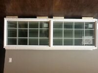 3 transom windows with grills