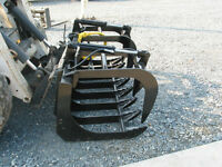 New Wildkat 78 inch 2 Cyl E Series Skid Steer Brush Grapples