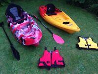 Kayaks (Feelfree Move, Galaxy Fuego)
