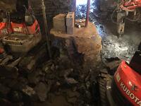 Pour tout travaux d'excavation,fissure,infiltration514-467-1351