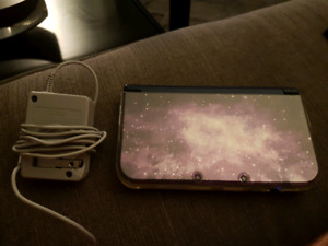 3ds xl  new galaxy style with charger