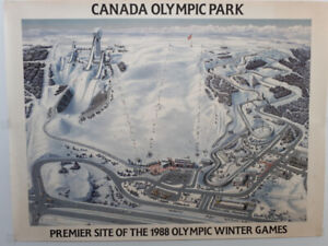 poster winter olympic 1988