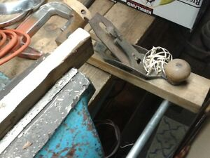 old wood working hand tools