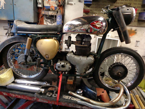 TRIUMPH NORTON BSA AJS SUNBEAM ROYAL ENFIELD PROJECTS WANTED
